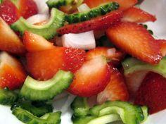 Strawberry Bitter Melon Salad