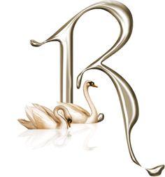 Alfabeto con cisnes.   Oh my Alfabetos!