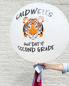 Custom Tiger Balloon. Jumbo Balloon.