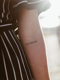 Instagram: theladies_at, tattoo inspo, small tatoos, hiraeth, saudade