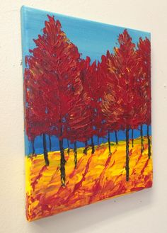 Happy Fall, Textured Acrylic Painting #painting #acrylicpainting #paletteknife