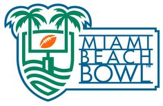 Miami Beach Bowl Primary Logo on Chris Creamer's Sports Logos Page - SportsLogos. A virtual museum of sports logos, uniforms and historical items. College Bowl Games, College Bowls, Football Bowl Games, Football Themes, Kentucky, Miami Logo, Espn College Football, American Athletic Conference, Bowl Logo
