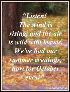 October eves...  www.LizAmend.com