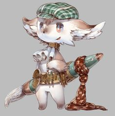 This adorable creature is Maiyu. It doesn't talk much but loves to draw and solve puzzles. Character Creation, Character Concept, Character Art, Cute Creatures, Fantasy Creatures, Alien Concept Art, Chibi Characters, Monster Design, Cute Chibi