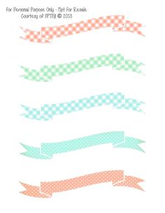 Free Digital Images: Pretty Printable Banners.  SUPER CUTE!!