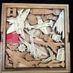 Air Force Challenge Puzzle - artistic and challenging brain teaser - can be personalized