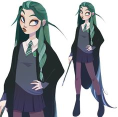 Discover recipes, home ideas, style inspiration and other ideas to try. Fanart Harry Potter, Arte Do Harry Potter, Art Manga, Anime Art, Anime Comics, Hogwarts, Slytherin Pride, Slytherin Aesthetic, Witch Art