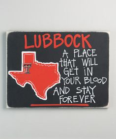 Another great find on #zulily! Texas Tech Red Raiders Map Wall Sign #zulilyfinds