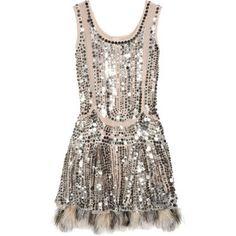 Anna Sui silk-tulle sequin dress! LUST!