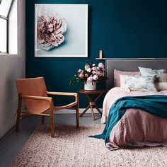 Maybe I'm just excited to see the Portland Fall Home Show✨ . . . . LOVE this bedroom. The blue, the pink, the comfortable feel! Very inspirational, unknown copyright. I did not take this picture, I wish I did! Looking to collaborate with more interior designers. . . . #interiordesign #home #fall #portland #portlandoregon #oregon #design #pink #grey #wanderlust #pnwdesign #remodel #forhire #followme #beautiful #love #inlove #vsco #vscocam #house