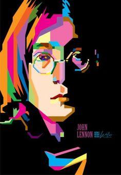 WPAP art, developed by Wedha Abdul Rashid, Indonesia - John Lennon - I like it