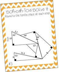 SOH-CAH-TOA Solve It ~ 3 Sine Cosine & Tangent Puzzles ...