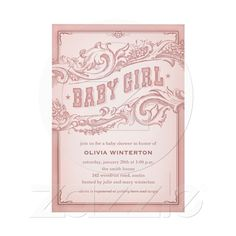 Baby Cowgirl Shower Invitations