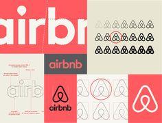 Brand Identity Design, Branding Design, Logo Design, Logo Branding, Airbnb Logo, Logo Guidelines, Airbnb Design, Dynamic Logo, Brand Book