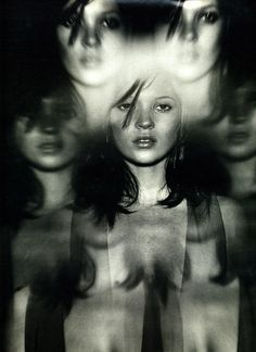 """Enter Laughing"", W, May 1997Photographer: Nathaniel GoldbergModel: Kate Moss"