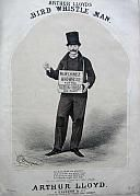 Arthur Lloyd's 1873 song 'Bird Whistle Man' - Click to Enlarge