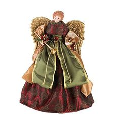 Home Locomotion Christmas Angel Doll  Tree Topper -- This is an Amazon Affiliate link. You can get more details by clicking on the image.
