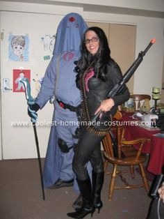 Cobra Commander and Baroness Costumes: When my boyfriend and I arrived at the Halloween Party in these costumes, the crowd went NUTS with cheering and applause! There were probably 400-500 people