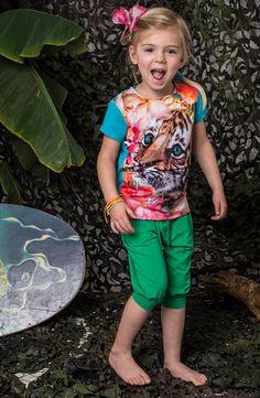 Someone shirt met een tijger animal print