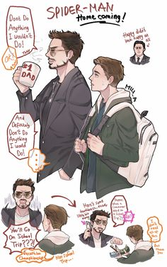 spidey and his dad by @miu_akatsuki