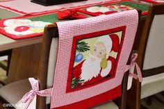 Deixe o Seu Natal Mais Patchwork - Jogo Americano e Capas de Cadeira. ~ Armarinho São José