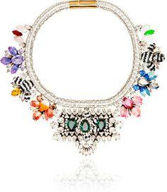 Shourouk Avalon Emerald Necklace MULTI on shopstyle.com