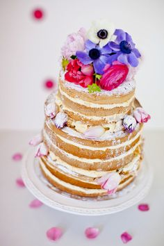 Love this naked cake!  from 100layercake.com
