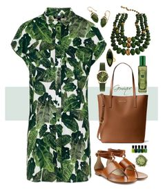 """Tropical Print for Summer"" by gemique ❤ liked on Polyvore featuring Topshop, Michael Kors, Henry London, Lana, Castlecliff, Palm Beach Jewelry, Zoya and Jo Malone"