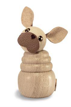 WOODEN frenchie (lys) fransk bulldog