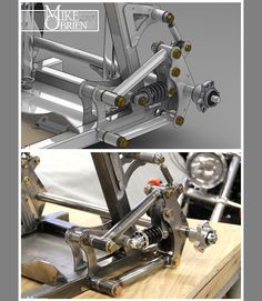 Rear suspension detail on the pushrod welding cart. Who says you cant roll around the shop with style? Welding Tig, Welding Cart, Cantilever Suspension, Suspension Design, Homemade Go Kart, Mechanical Engineering Design, Tube Chassis, Diy Go Kart, Space Frame