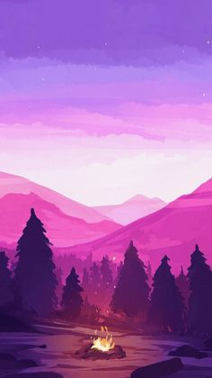 Snowy mountain with sunrise illustration Anime Scenery Wallpaper, Landscape Wallpaper, Nature Wallpaper, Landscape Art, Tumblr Wallpaper, Galaxy Wallpaper, Wallpaper Backgrounds, Aesthetic Iphone Wallpaper, Aesthetic Wallpapers