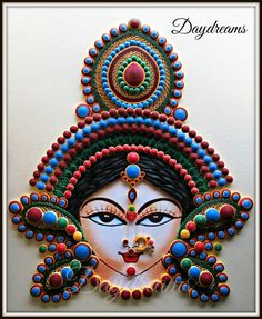 When I first Quilled this Durga more than three years ago. It was my biggest and most challenging projects. I was convinc. Diy Quilling Crafts, Quilling Dolls, Paper Quilling Tutorial, Paper Quilling Cards, Quilling Work, Paper Quilling Jewelry, Quilled Paper Art, Paper Quilling Designs, Quilling Patterns
