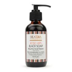 Rose Hips Black Soap Deep Pore Facial Wash and Mask