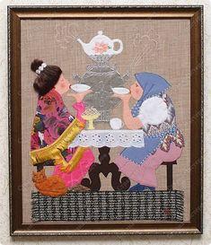 Картина панно рисунок Аппликация Картины из ткани Кружево Нитки Пряжа Сутаж тесьма шнур Ткань фото 1