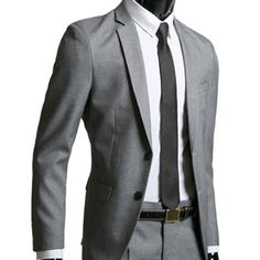 New UK for Mens slim fit 2Button GRAY BEST suits UK-34~40R jacket -with pants in Clothes, Shoes & Accessories, Men's Clothing, Suits & Tailoring | eBay