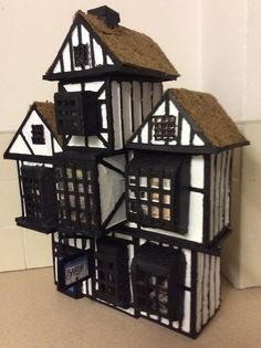 How To Make A Model Tudor House Out Of Cardboard Bunny