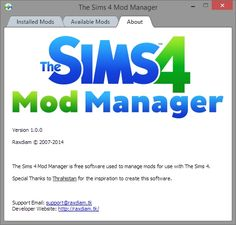 Sims 4 Updates: The Sims 4 Mod Manager is a convenient tool used to make management of mods easier. Features Drag and drop (supports more than one drop) Does not make use, Custom Content Download!