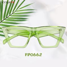 9c96ebad9ec7 Marissa Cat Eye Green Eyeglasses These glasses have a contemporary