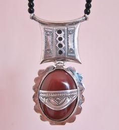 Tuareg Amulet with Carnelean Stone Pure Silver & by TuaregJewelry BY INEKE HEMMINGA