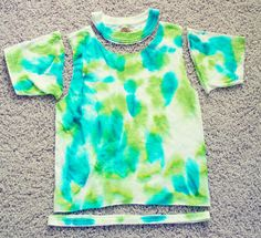 237d08eb67707 Buggie and Jellybean  Tie Dye Shirt turned Razor Back Tank  Pinterest  Project