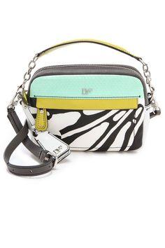 Diane von Furstenberg Milo Mini Printed Bag, $295; shopbop.com Courtesy of Shopbop  - ELLE.com