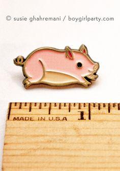 Teacup Pig Enamel Pin by Susie Ghahremani / boygirlparty.com |