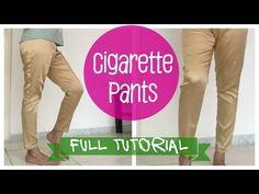 Cigarette pants- Pattern, Cutting and Stitching - YouTube