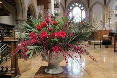 Palm Sunday chancel arrangements 2014 Church Flower Arrangements, Church Flowers, Medan, Church Events, Church Banners, Palm Sunday, Lenten, All Saints, Flower Decorations