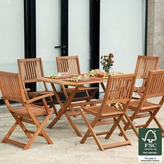 Robert Dyas FSC® Country Hardwood 150cm 6-Seater Furniture Set | Robert Dyas
