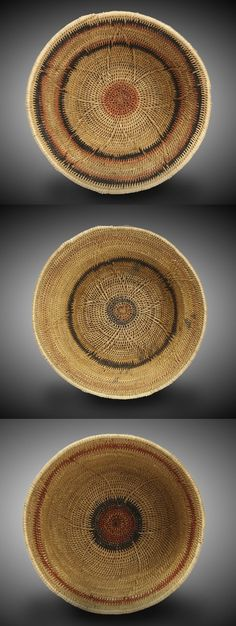 Central Africa | Makenge baskets from Zambia. Made from grass and used to store flour and food.