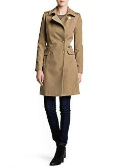 MANGO - CLOTHING - Coats - Military style long coat