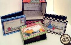 Adore all the minis in Clare's altered cabinet and drawers - great use of Mother Goose! #graphic45