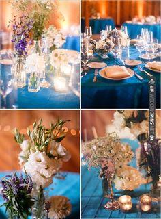blue wedding ideas   VIA #WEDDINGPINS.NET