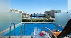 Minoa Palace Resort is a 5 star luxury Resort located in Crete Island in Greece. Hotel offers relaxing holidays in a breath-taking Cretan Scenery Beach Accommodation, Honeymoon Hotels, Relaxing Holidays, Double Room, Best Resorts, Pool Towels, Private Pool, Crete, 5 Star Hotels